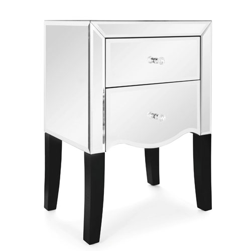 Mirrored Bedside Table Furniture
